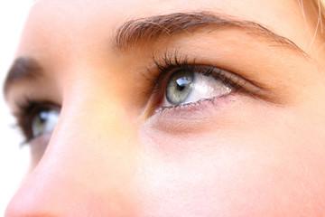 a girl's eye