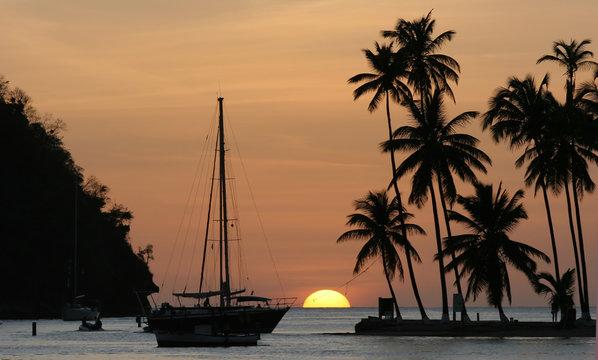 Sunset in Marigot Bay, St Lucia