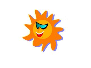 Funky Cartoon Sun Illustration
