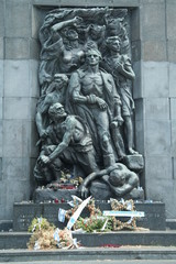 Jewish Holocaust memorial monument in warsaw 2