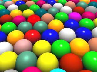 color balls minding  a big easter sggs