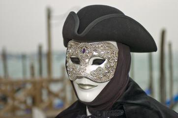 silver carnival mask