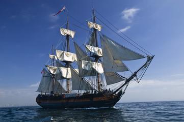 Sailing Ship at Sea under full sail