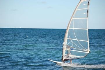 Windsurfing Off of Virginia Key