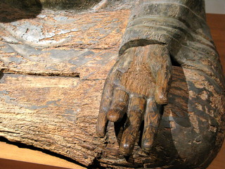 Main de Bouddah en bois