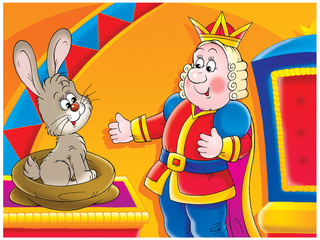 King and rabbit