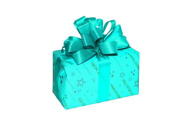 geschenk in türkis