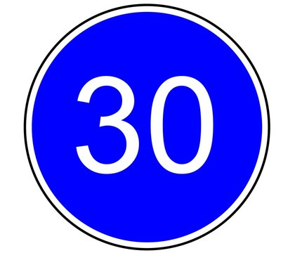 Panneau de Signalisation (Vitesse obligatoire - B25)