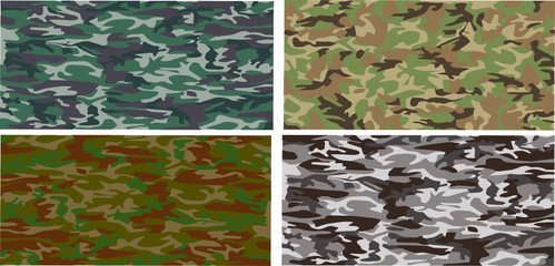 A camouflage pattern that will tile seamlessly