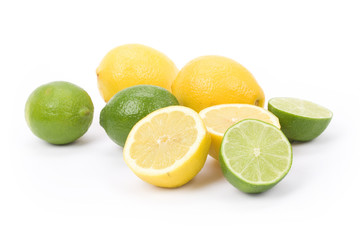 Yellow Lemons and green lime