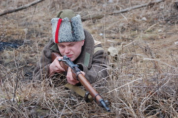 Reenacting.1919 Russia.Civil war