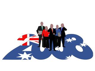 Australian Business team on 2008 text