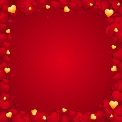 lovely background of hearts