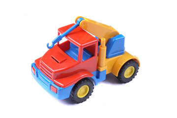 color car toy on the white background