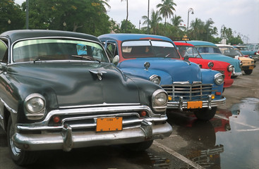 Parked old cars - Cuba