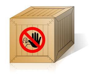 caisse interdiction d'ouvrir