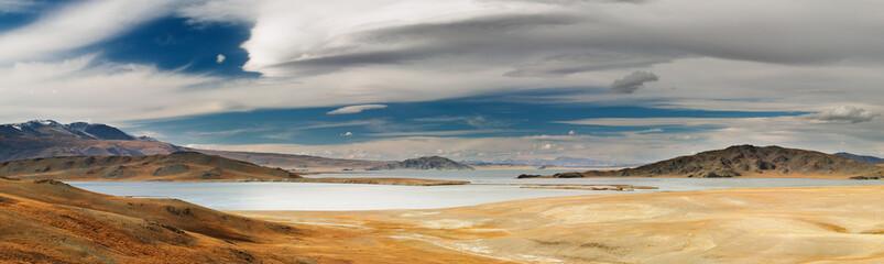 Landscape with beautiful lake, Western Mongolia