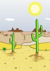 Aluminium Prints Wild West Desert