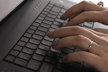 close up of a black keyboard
