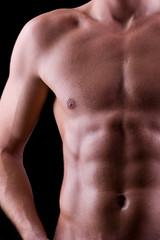 Trainierter männliche Brust - Oberkörper