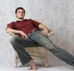 Male Model in Chair
