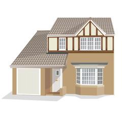 Illustration of modern detached house