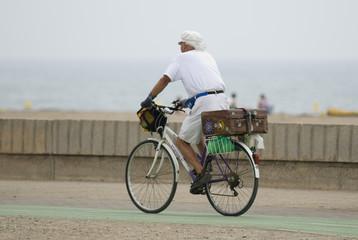 Vélon sur la plage