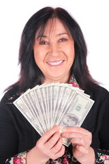 Woman and dollars 3