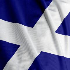 Close up of the Scottish flag, square image
