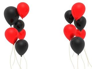 rote und schwarze ballons