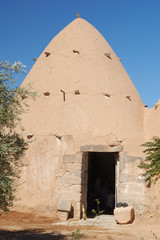 Syria, village - old clay house