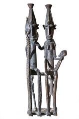 Dogon family - statue - Mali - Africa