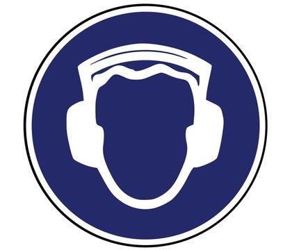 Panneau de Signalisation (Port casque antibruit obligatoire)