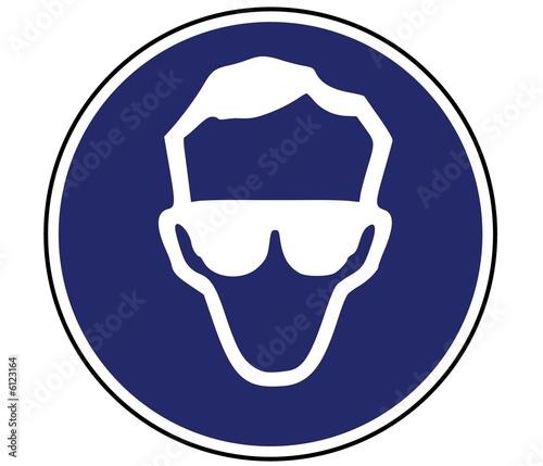 Panneau de signalisation port lunette obligatoire photo libre de droits sur la banque d - Port de couche obligatoire ...