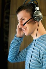 conversation via headset