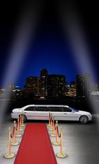 limousine parked
