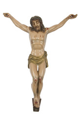Figurine of Jesus crucified