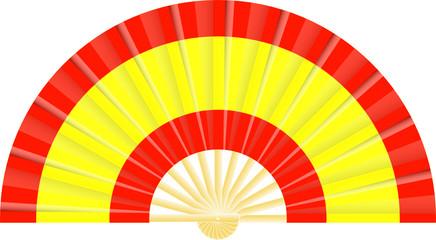 Eventail drapeau de l'Espagne