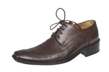 brown shoe on white Wall mural
