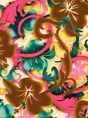 airbrushed tropical batik