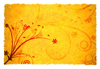 old paper background texture with ornament design
