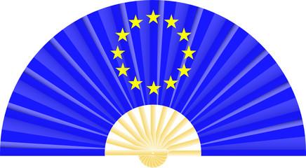 Eventail drapeau de l'Europe