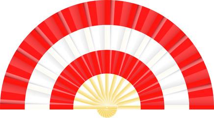 Eventail drapeau de l'Autriche