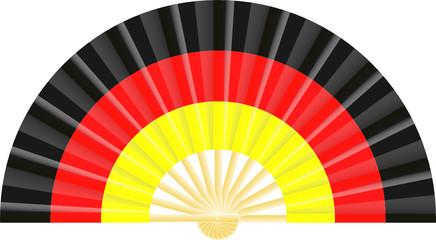 Eventail drapeau de l'Allemagne