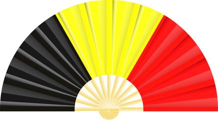 Eventail drapeau de la Belgique