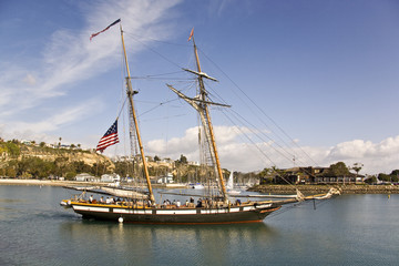Tall Ship Sailing out of Dana Point Harbor