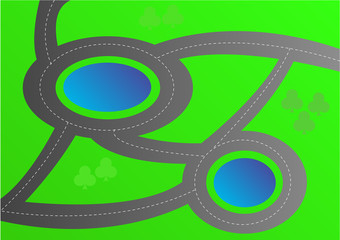roundabouts in countryside