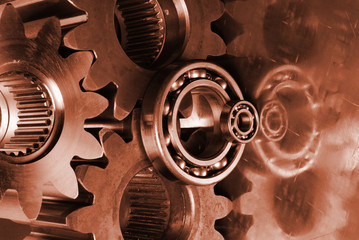 gear mechanism in burning red