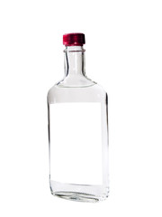 Vodka isolated on a white background