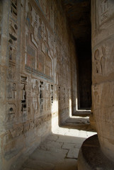 Holding alley in ancient temple, Egypt